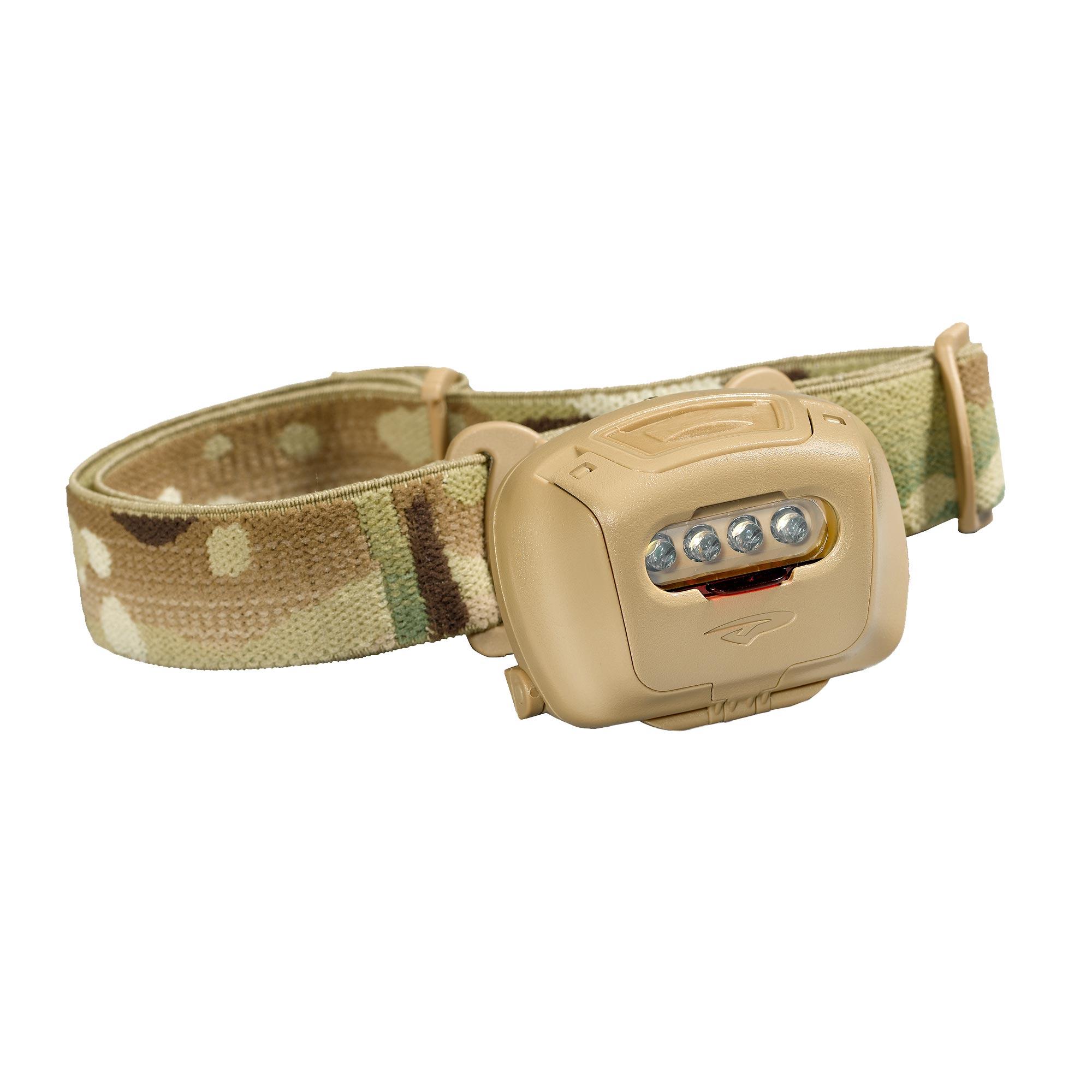 EOS-NOD-TAN Princeton Tec EOS Tactical MPLS LED Headlamp Tan
