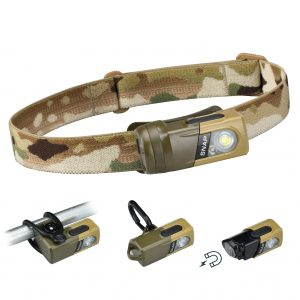 Princeton Tec Snap RGB Headlamp Multicam with mounting options